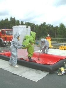 Gefahrgutgruppe - Dekontamination beim Einsatz an der Ostumgehung